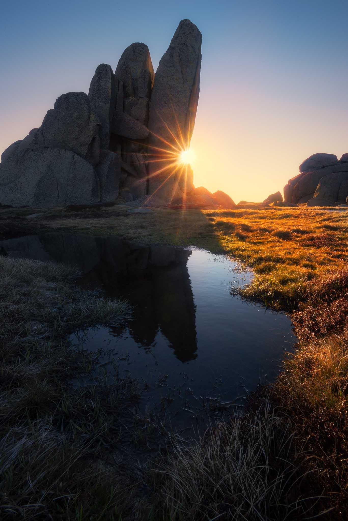 Kosciuszko National Park sunstar.