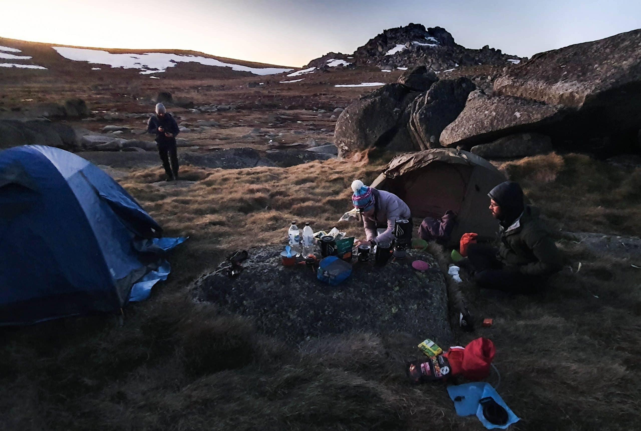 camping Mt kosciusko in October